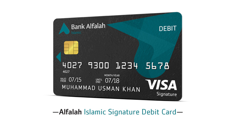 Alfalah Visa Islamic Signature Debit Card
